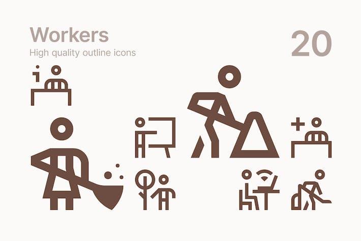 Иконки работника