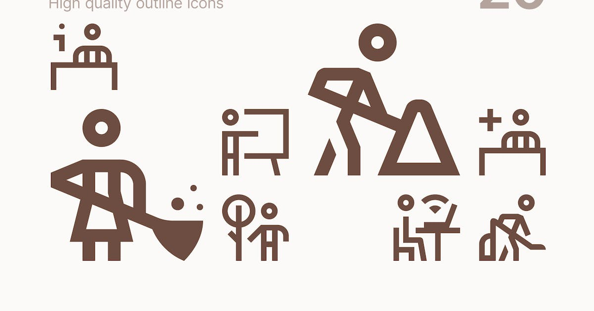 Download Worker Icons by polshindanil