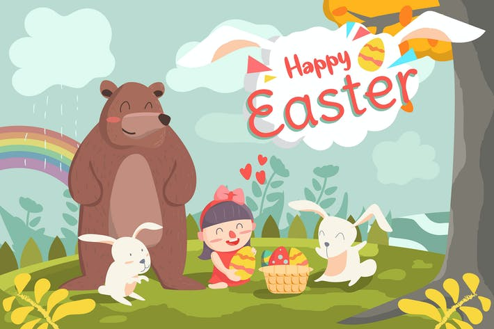 Thumbnail for Happy Easter - Vector illustration