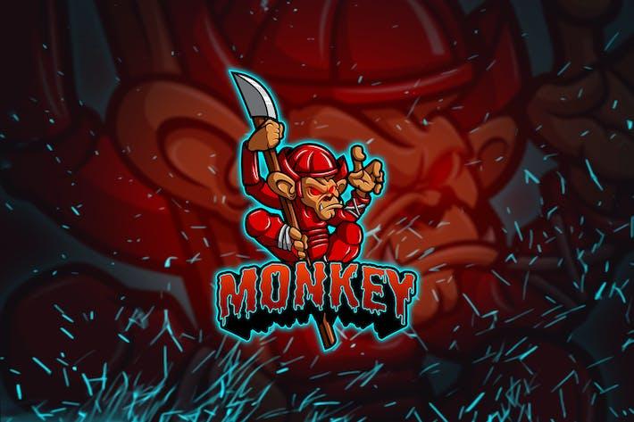 Thumbnail for Monkey - Esports Mascot Logo YR