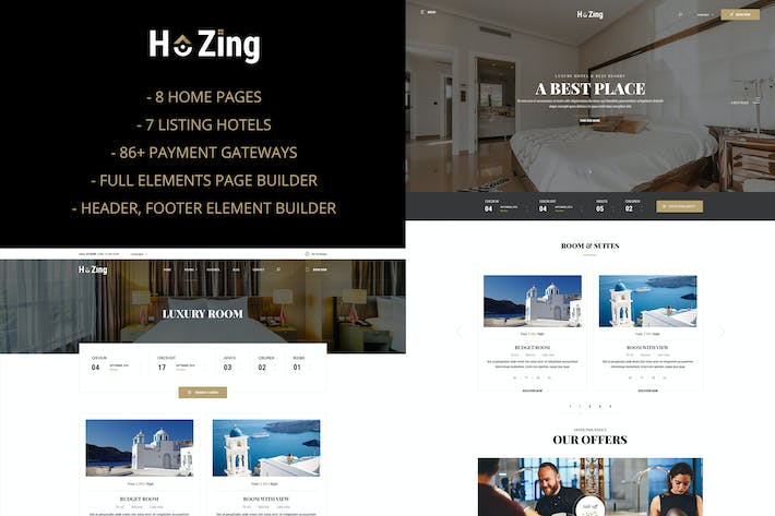Thumbnail for Hozing - Hotel Booking WordPress Theme