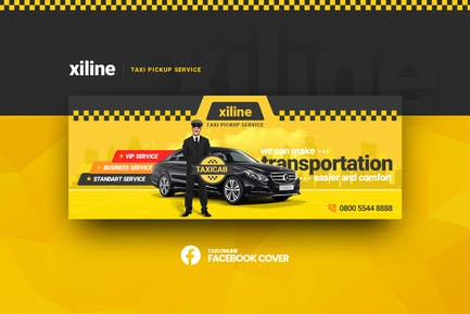 Xiline - Taxi Online Facebook Cover Template