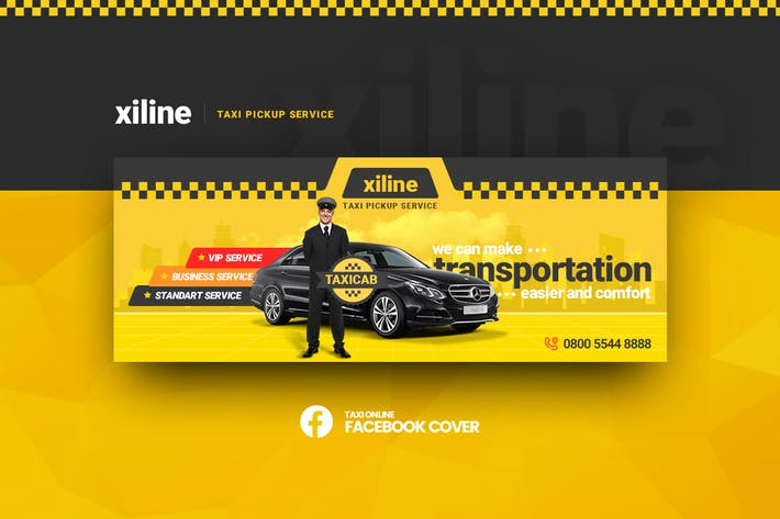 Thumbnail for Xiline - Taxi Online Facebook Cover Template