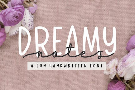 Dreamy Notes - Font Duo