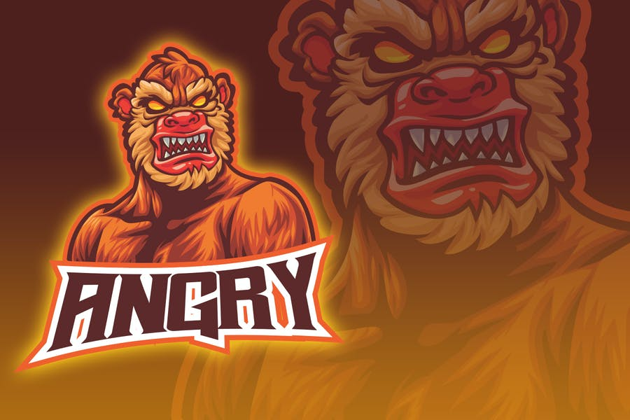 Angry Monster Esport Logo