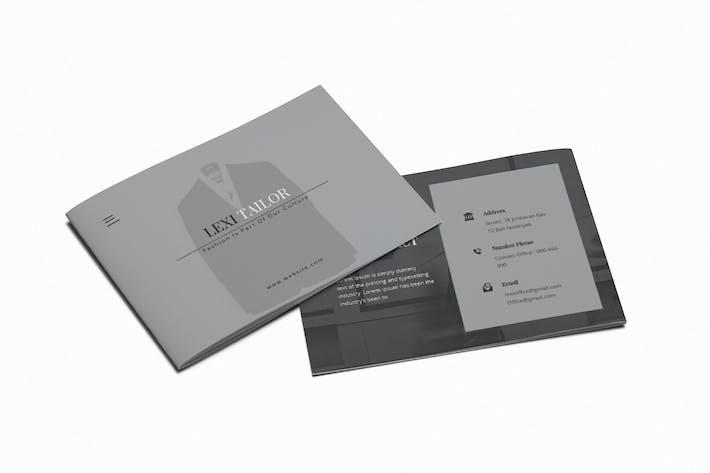Custom Fashion Tailor A5 Brochure Template