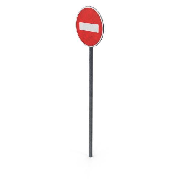 Europäisches Straßenschild Keine Einreise