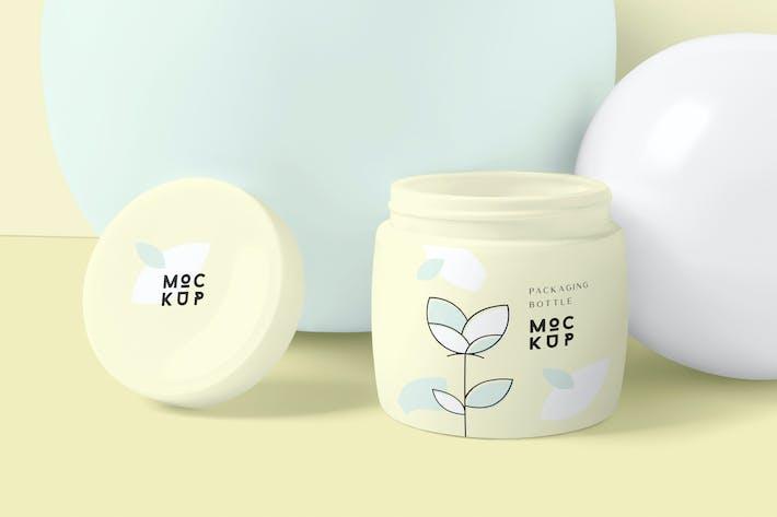 Thumbnail for Cosmetic Packaging Bottle & Jar Mockups