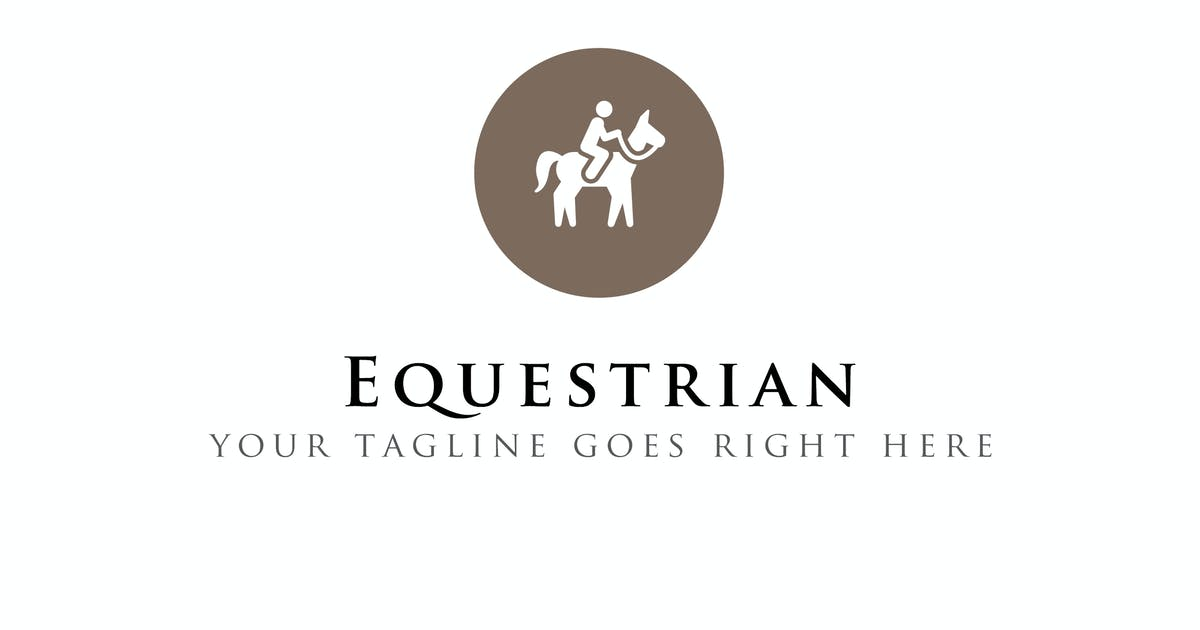 Download Equestrian - Horse Riding Logo Template by ThemeWisdom
