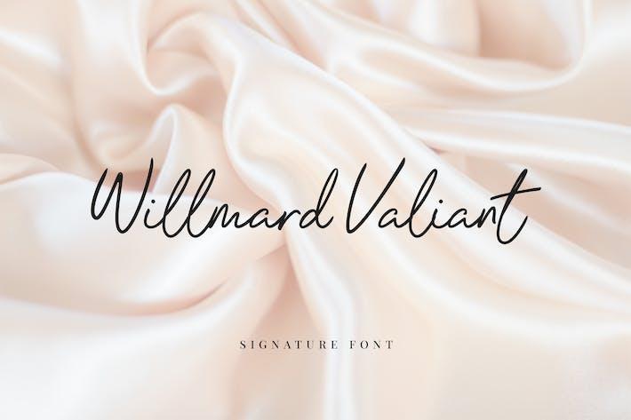 Willmard Valiant Signature Font