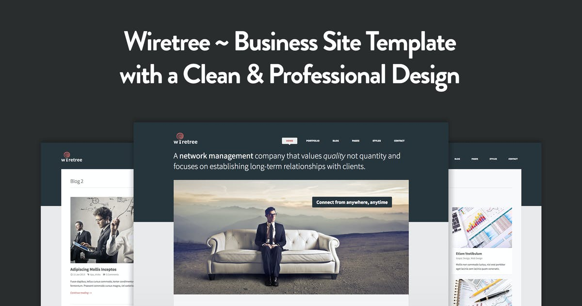 Download Wiretree - Responsive HTML5 Template by elemis