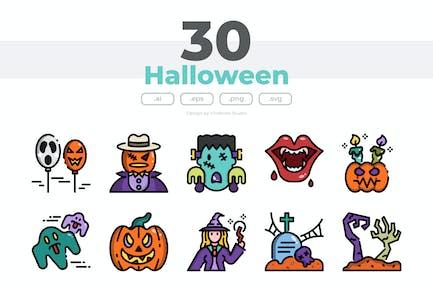 30 Halloween Icons