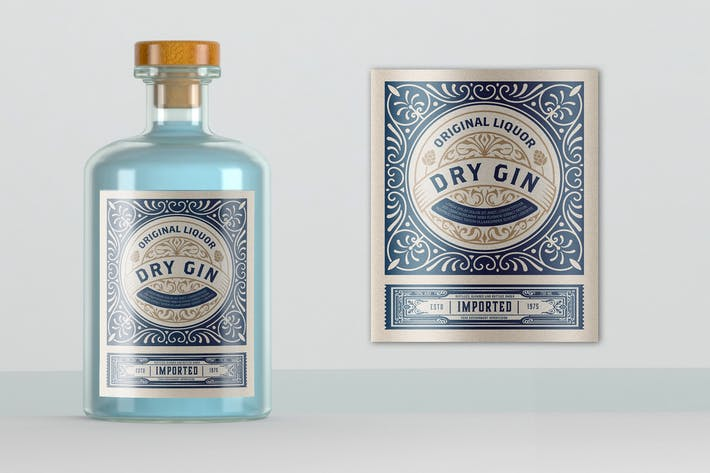 Vintage Gin-Label-Lay