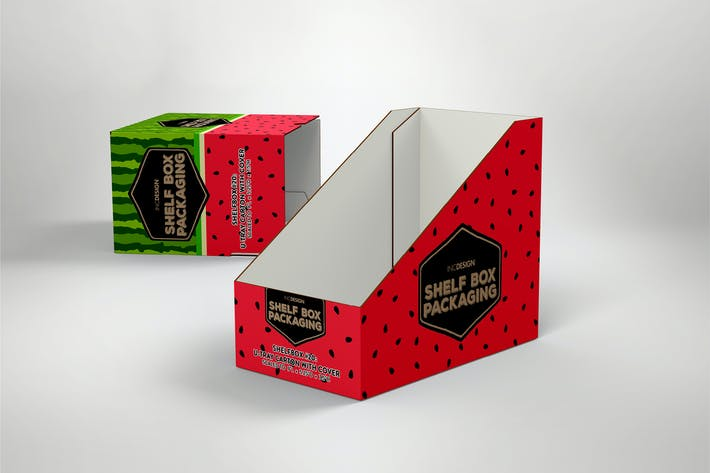 Thumbnail for Retail Shelf Box 20 Packaging Mockup