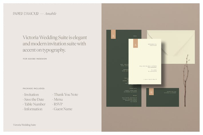 Thumbnail for Victoria Wedding Suite - Indesign Template