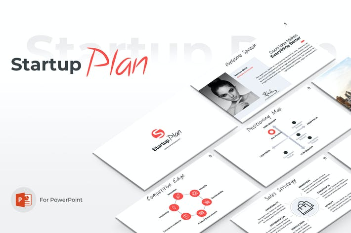 Thumbnail for Startup Plan PowerPoint Template