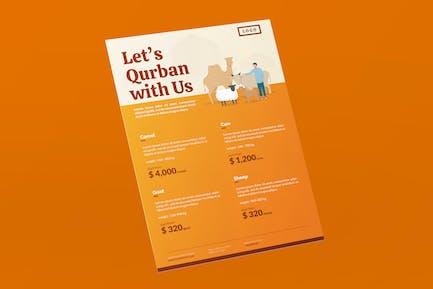 Eid Al-Adha Price List Flyer