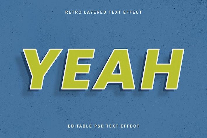 Retro editable text effect green shadow font