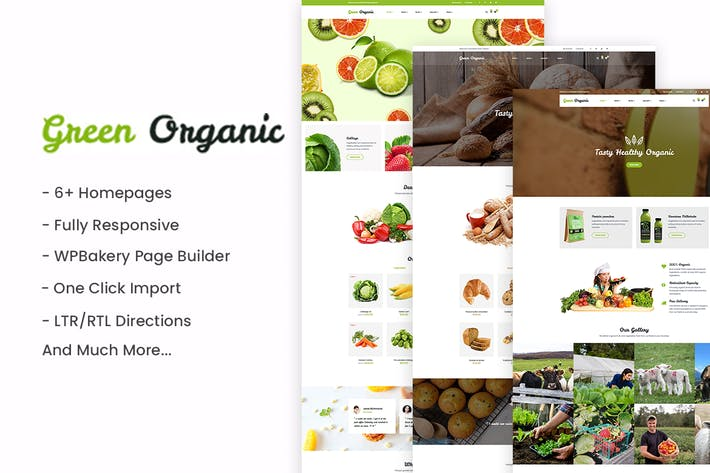 Cover Image For GreenOrganic - Organic & Bakery WordPress Theme