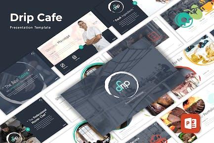 Капельное кафе - Шаблон ресторана PowerPoint