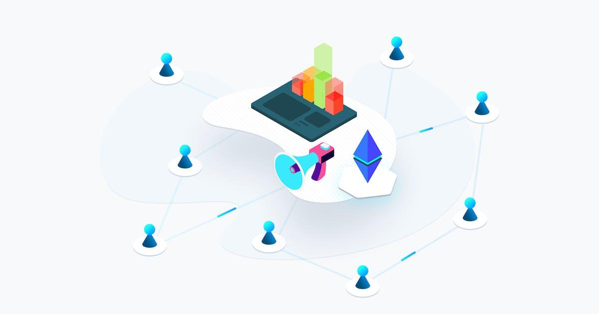 Download Blockchain Platform Social Marketing Isometric by angelbi88