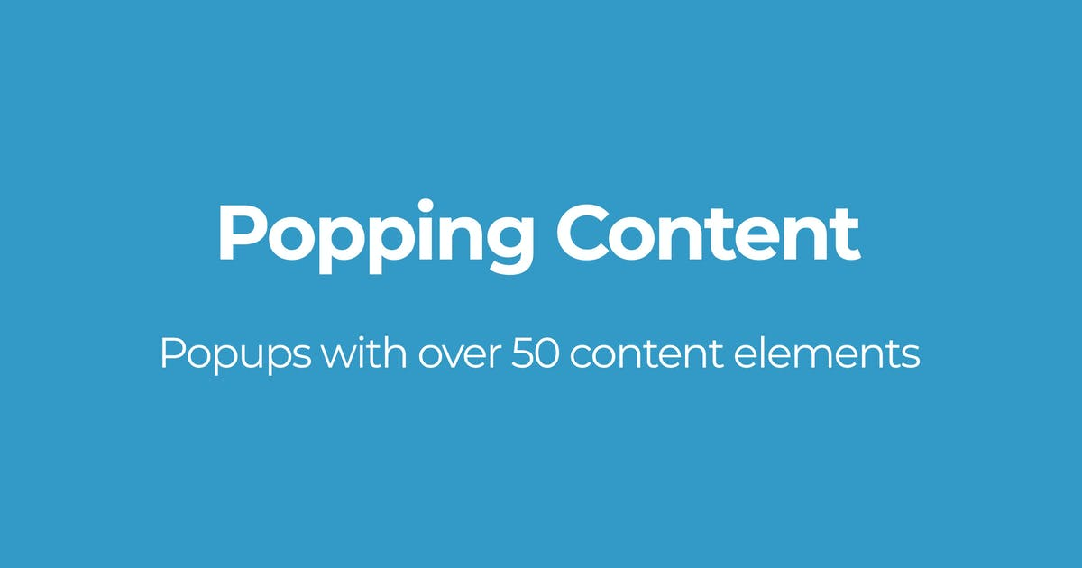 Download Popping Content by OTWthemes