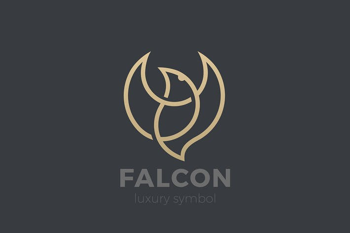 Thumbnail for Logo Flying Soaring Bird Eagle Falcon Linear style