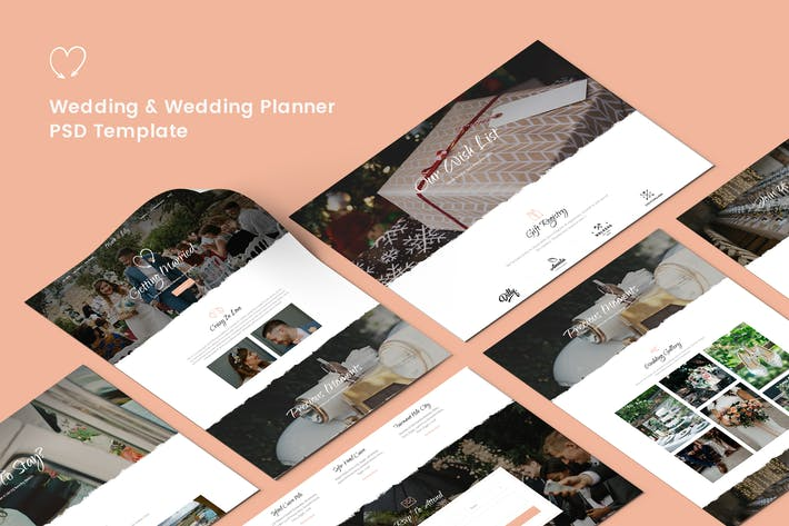 Thumbnail for Wedding & Wedding Planner PSD Template