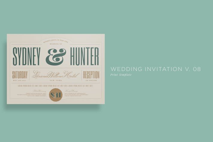 Thumbnail for Wedding Invitation V08