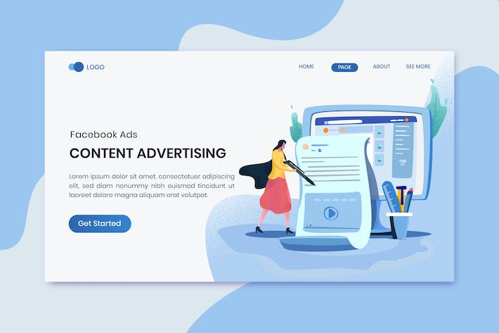 Thumbnail for Content Advertising Marketing Landing Page