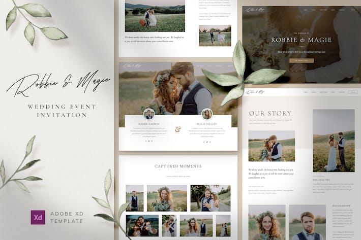 Thumbnail for Robbie & Magie – Wedding Event Invitation Adobe XD