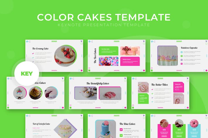 Thumbnail for Color Cakes - Keynote Template