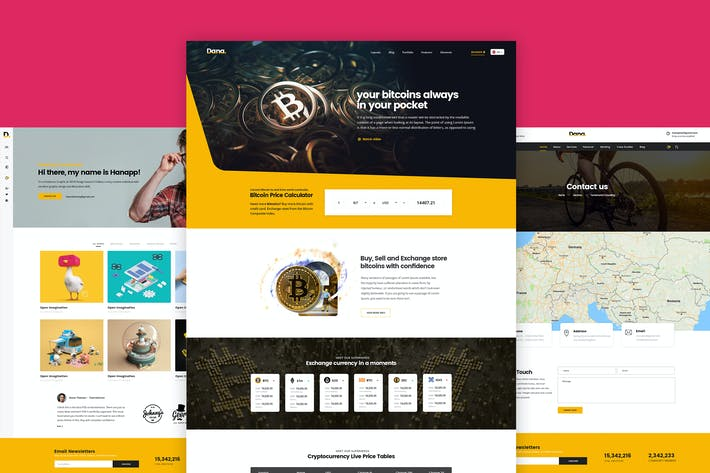 Cover Image For Bitcoin and Cryptocurrency Landing Page Template