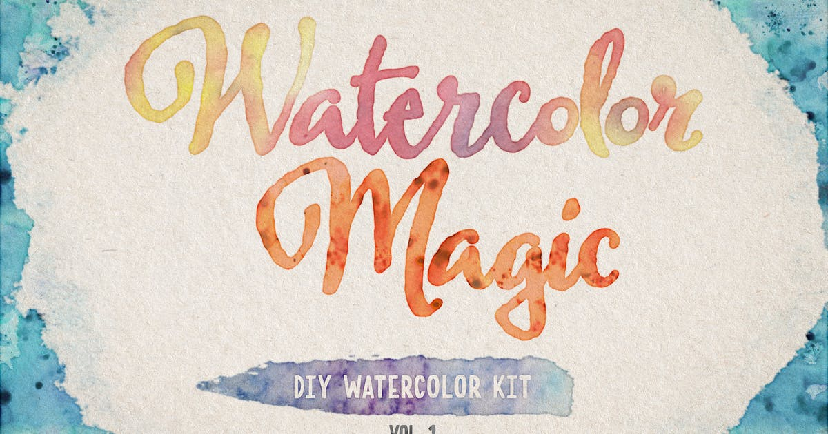 Download Watercolor Magic Volume 1 by DesignPanoply