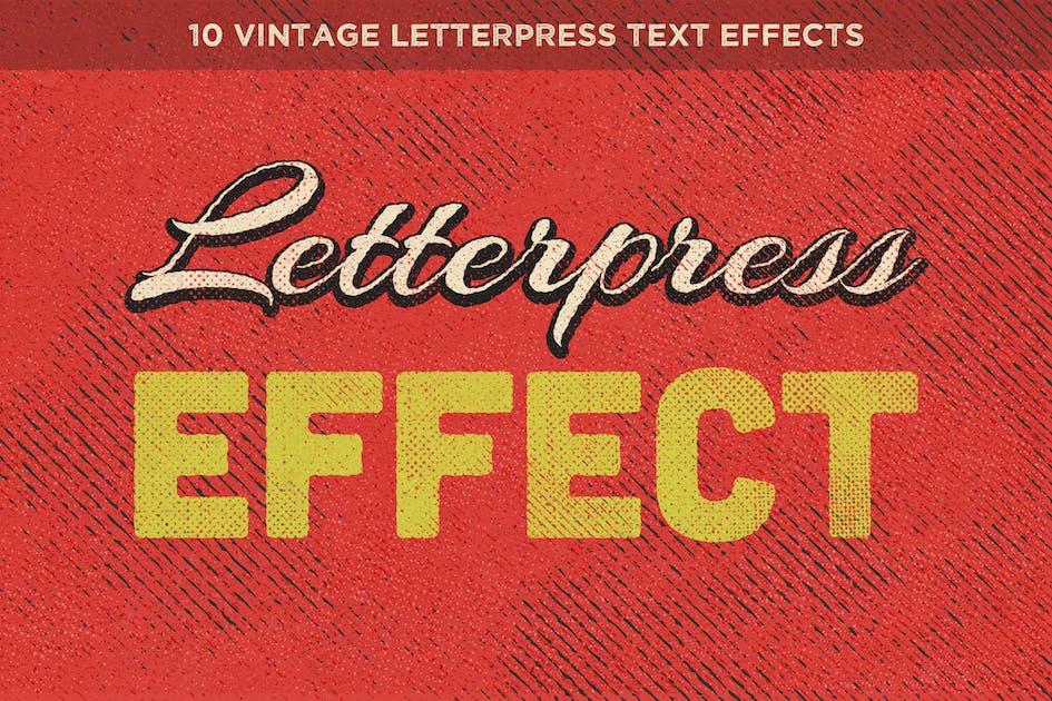 Download Vintage Letterpress Text Effects Vol. 1 by HyperPix