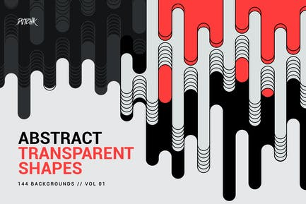 Abstract Transparent Rounded Shapes | Vol. 01