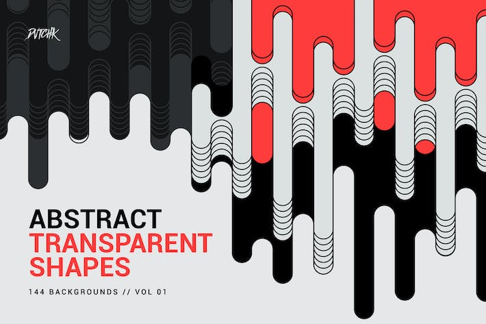 Thumbnail for Abstract Transparent Rounded Shapes | Vol. 01
