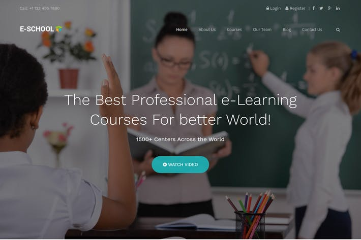 Thumbnail for E-School - Learning and Courses HTML5 Template