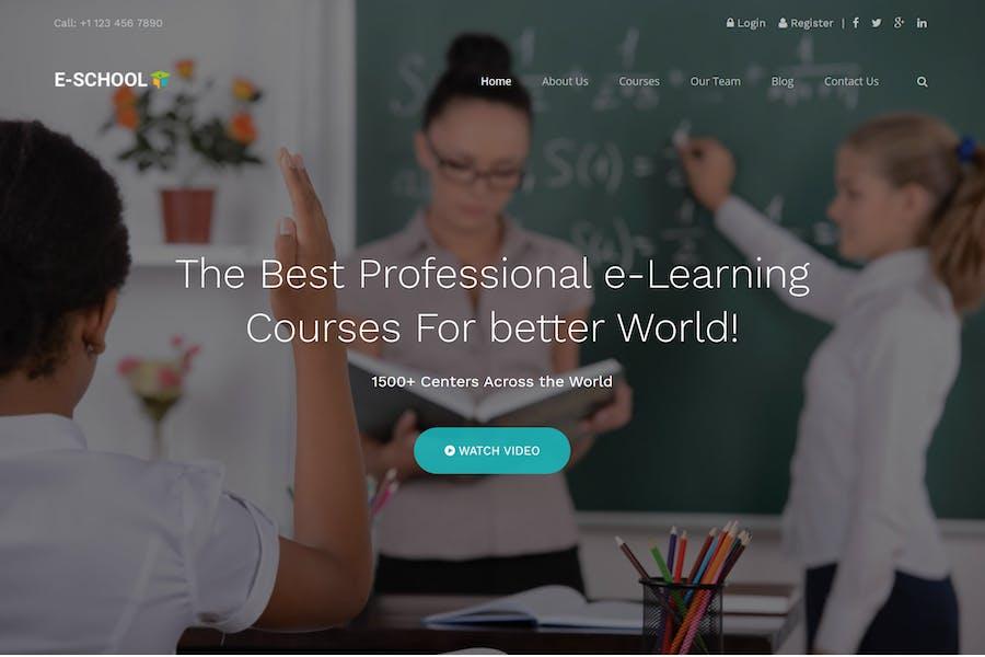 E-School - Обучение и курсы HTML5 Шаблон