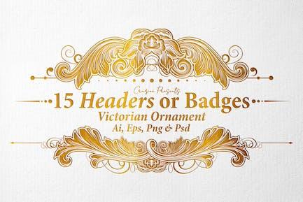 15 Headers - Victorian Ornament