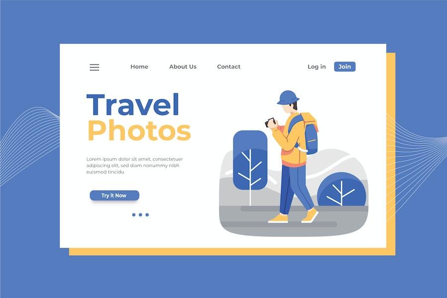 Travel Photographer Landing Page Illustration