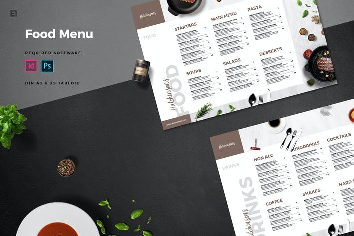 Cover Image For Restaurant Food Menu