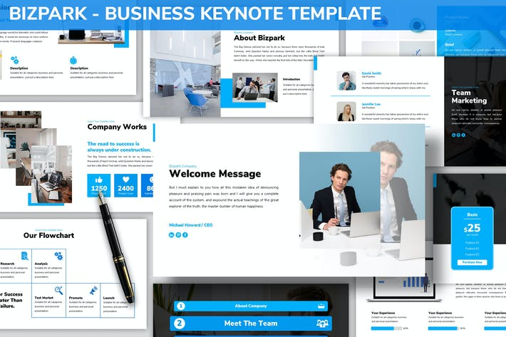 Thumbnail for Bizpark - Business Keynote Template
