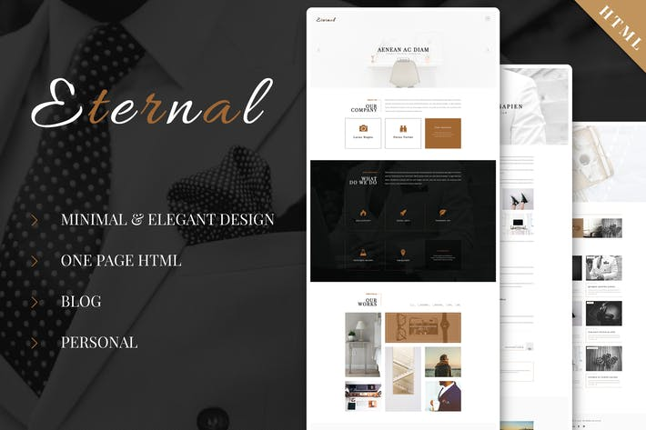 Thumbnail for Eternal - Personal Elegant HTML Blog Template