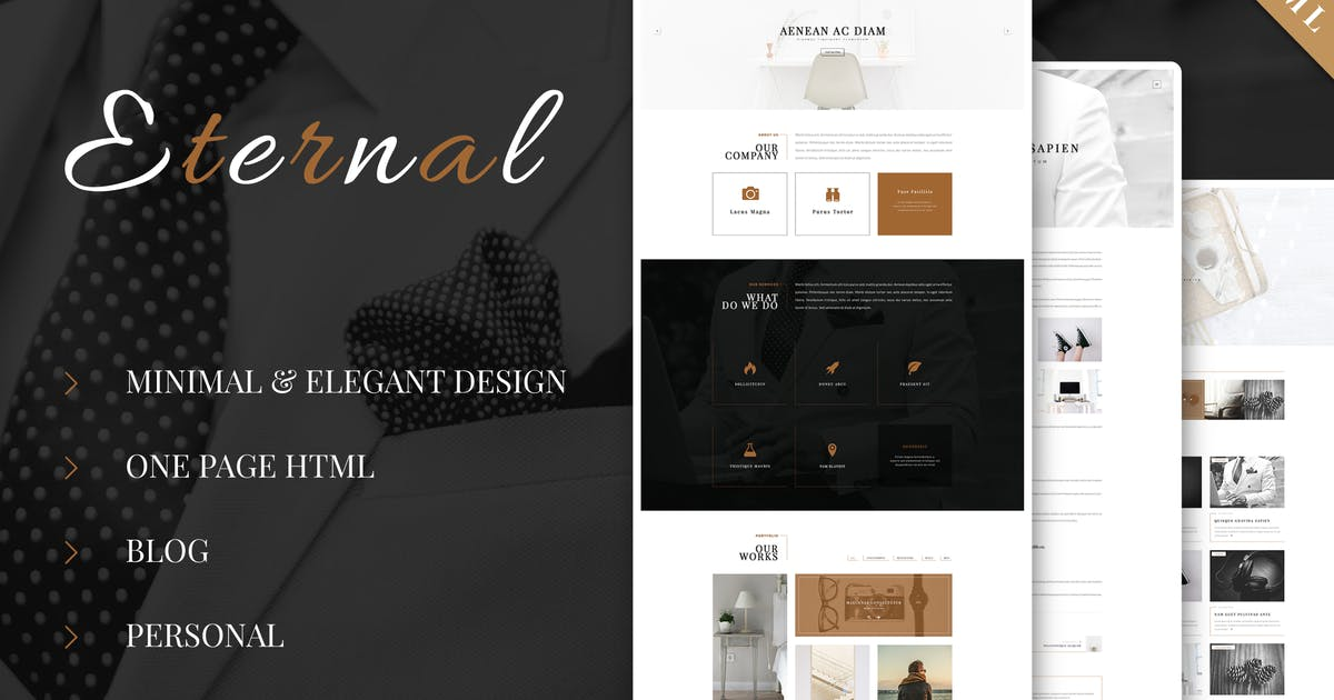 Download Eternal - Personal Elegant HTML Blog Template by ad-theme