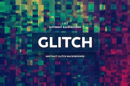 Abstrakte Glitch-Hintergründe