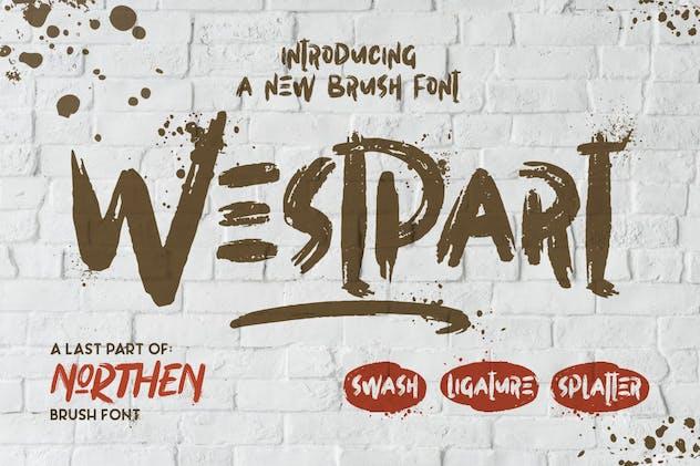 Westpart | Brush Font