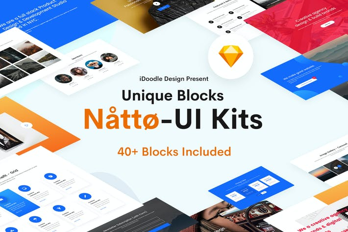 Cover Image For Natto - Creative UI Kits Sketch Template