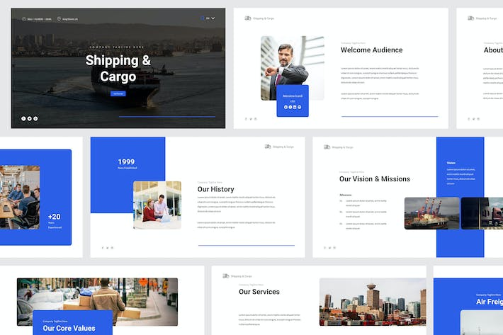 Thumbnail for Shipping & Cargo Powerpoint Template