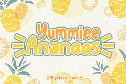 AF - Yummiee Ananaas - Cute Sans Display